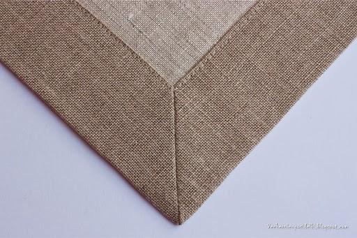 Как сшить салфетку с уголком «конвертом»