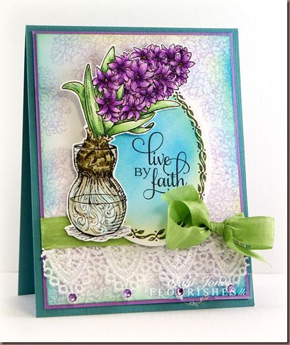открытка с гиацинтами на 8 марта