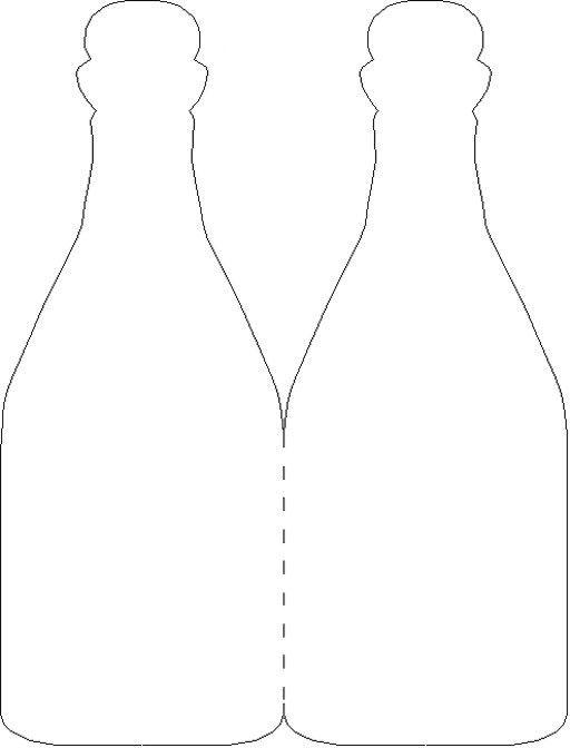 шаблон бутылки