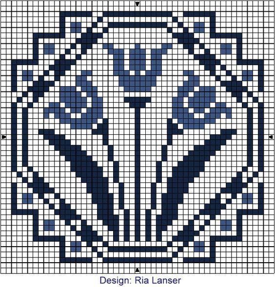 орнамент крестиком