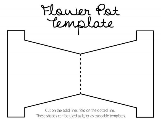 Шаблон цветочного горшка для распечатки