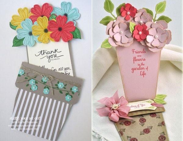 цветочный горшок открытка