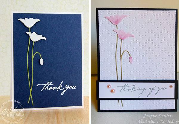 открытки с цветочной вырубкой