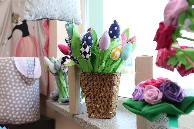 подоконник искусственные цветы