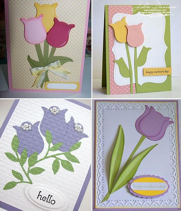 открытки с тюльпанами