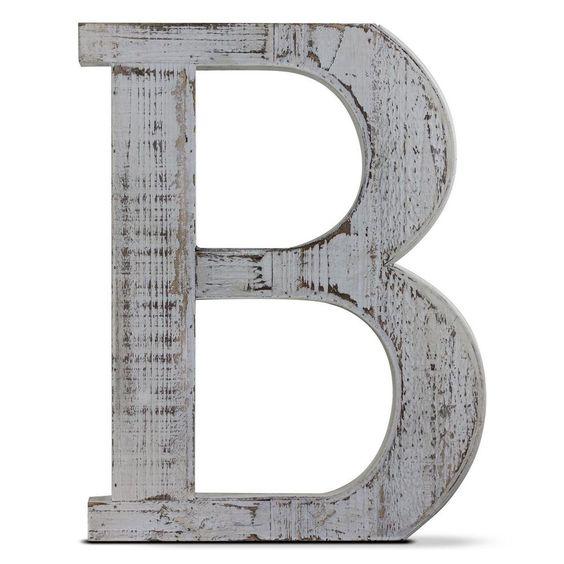 Деревянная буква B