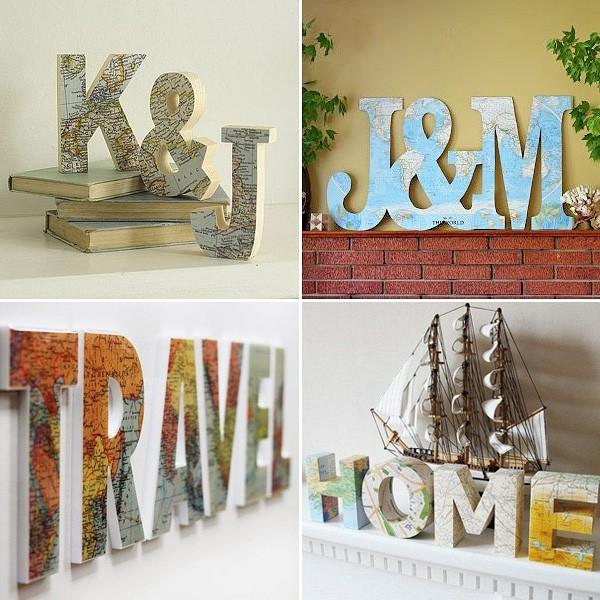 Декор деревянных букв