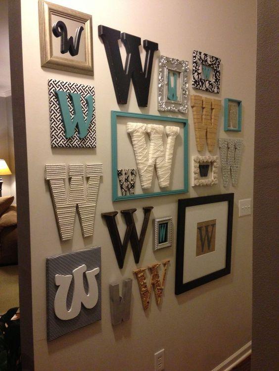 Буквы как деревянный декор на стену