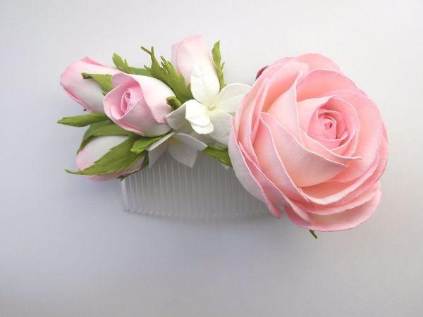 Гребень с розами