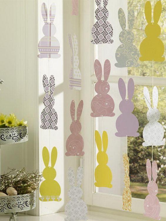 Декор пасхальные зайцы