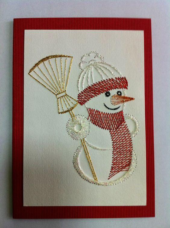 снеговик нитками