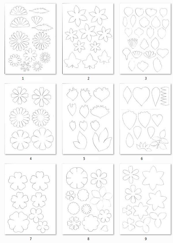Шаблоны цветы из фоамирана