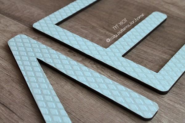 Как оклеить деревянные буквы