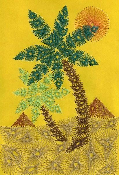 пальмы изонитью