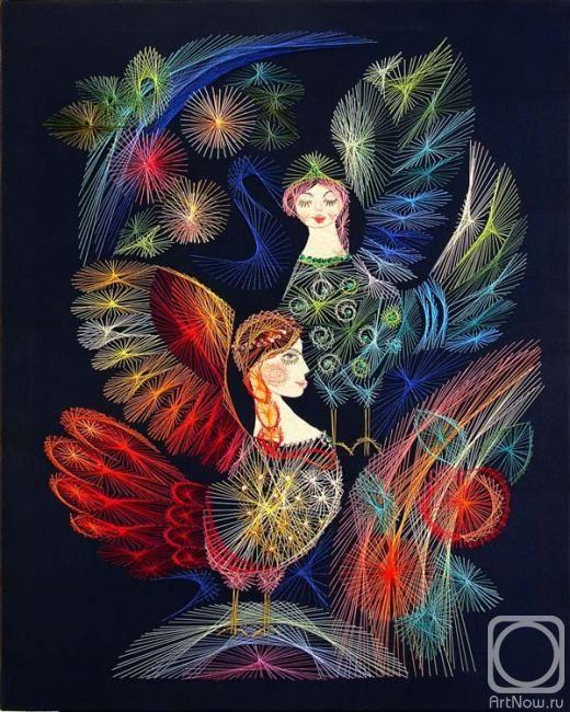 Птица Сирин из славянской мифологии