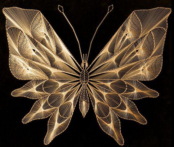 роскошная бабочка нитями