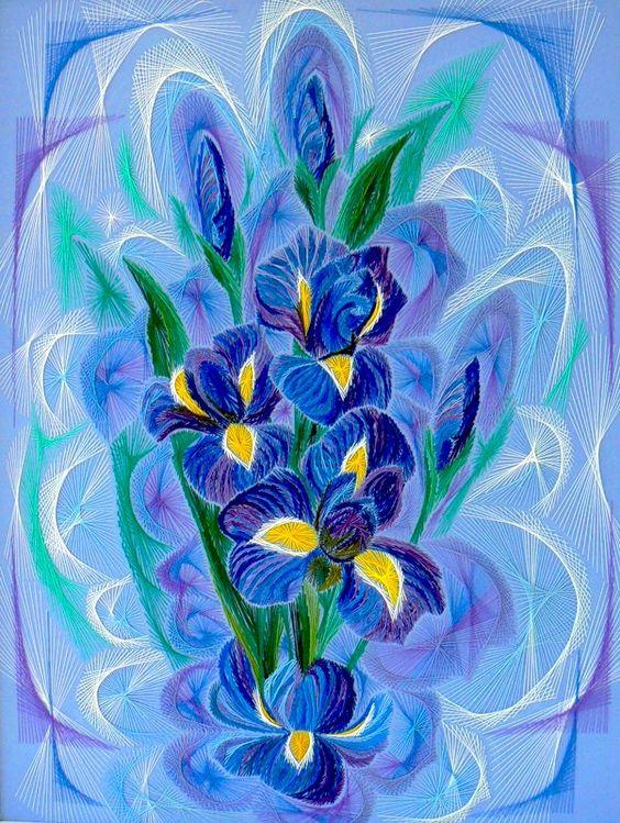 Ирисы в синих тонах