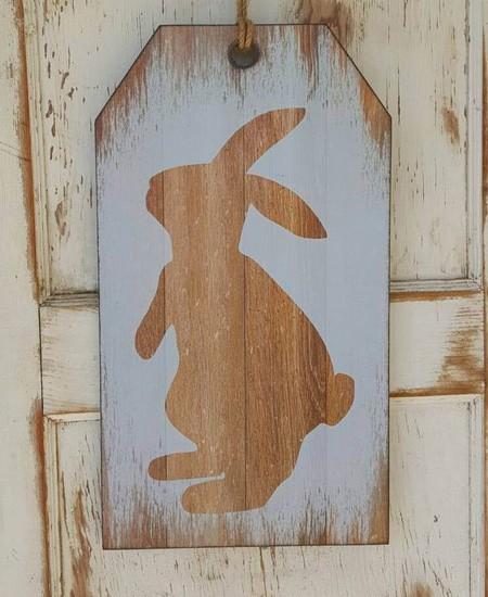 пасхальный декор деревянная доска