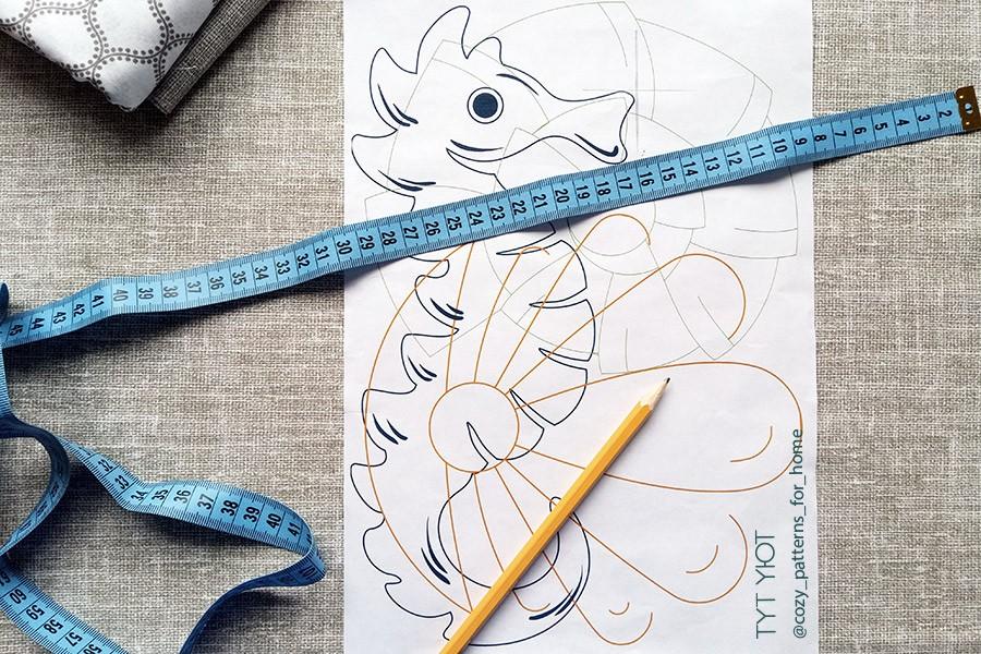 Схема для вышивания морской конек