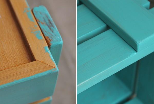 Покраска деревянного ящика