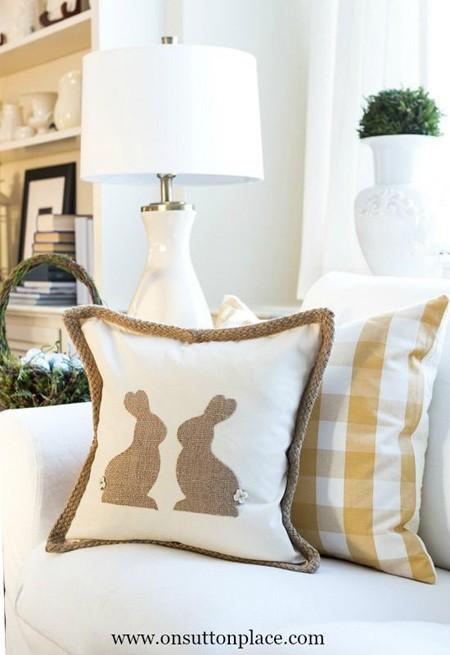 пасхальный декор подушки