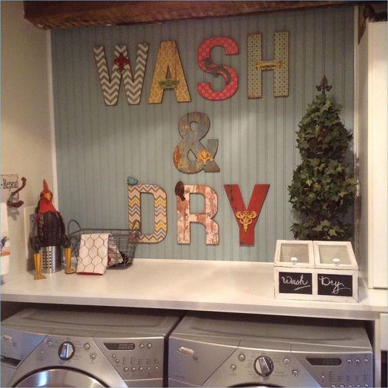 надпись wash dry