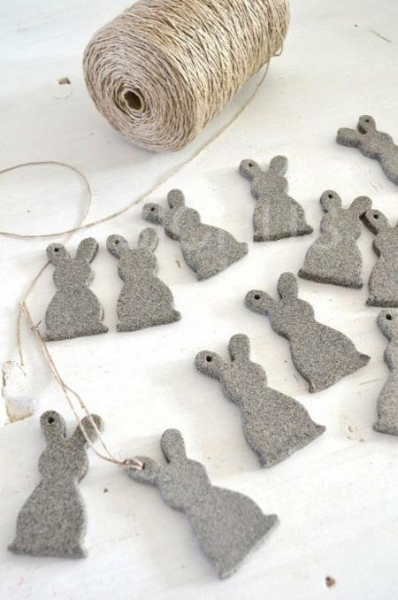 пасхальный декор зайцы из фетра