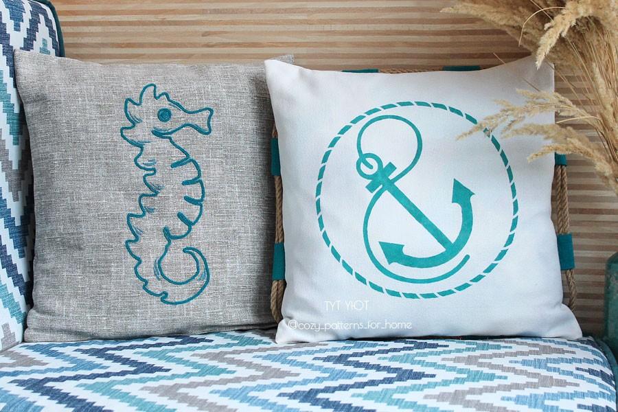 Подушки своими руками в морском стиле