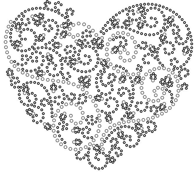 Сердце из точек
