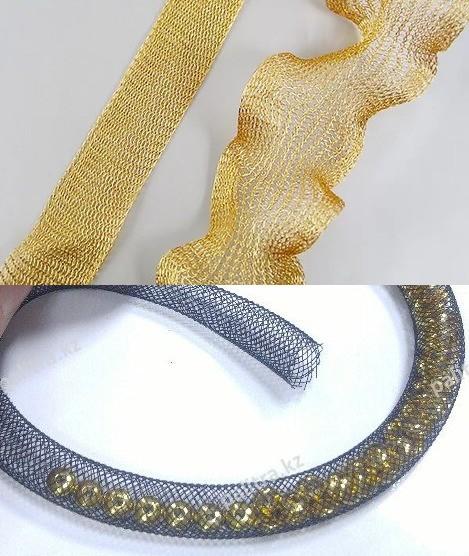 Коллаж сетка и лента