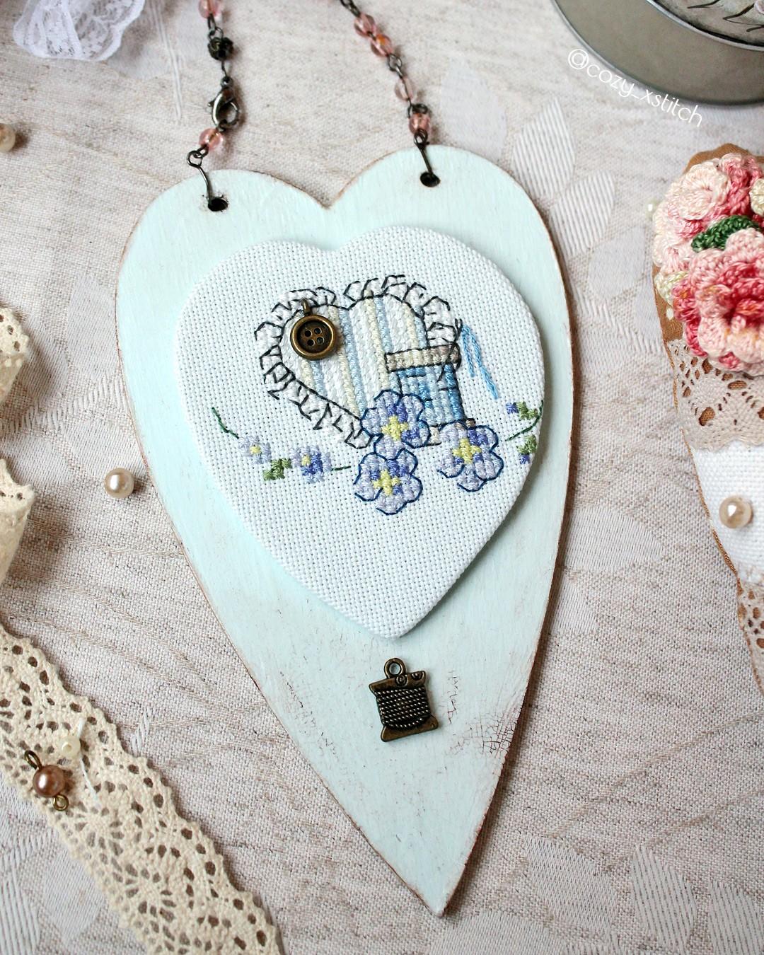 Сердце вышивка крестом