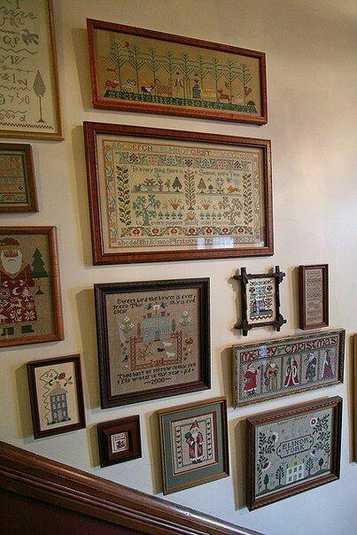 Вышитые картины на стене