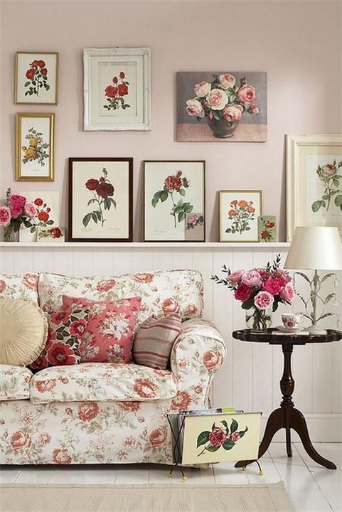 Гостиная в романтичном стиле