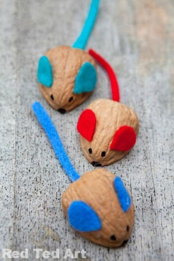 мыши из грецких орехов