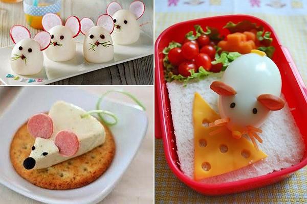 Мышки из яйца и сыра