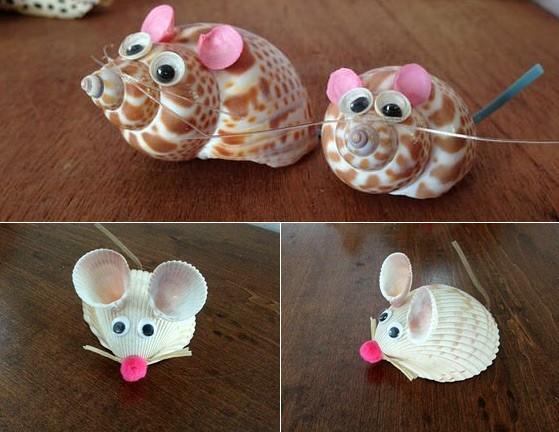 мышь из ракушки