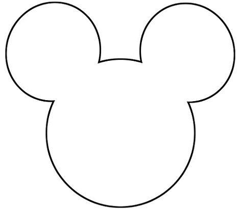 Выкройка головы Микки Мауса