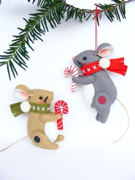 мышки на елке