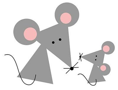 простая аппликация мышь