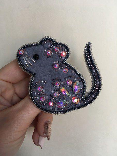 мышь с бусинами