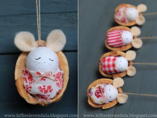 Мышки из маленьких бумажных шариков
