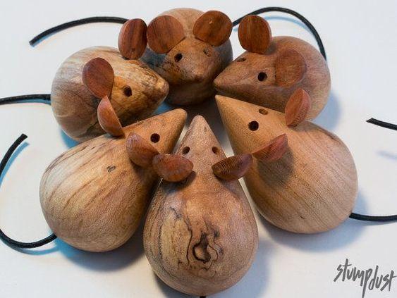 деревянные мышки