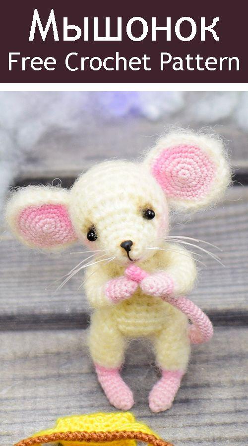 Описание вязания милого мышонка