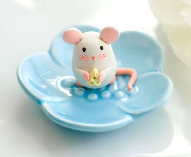 мышка из мастики