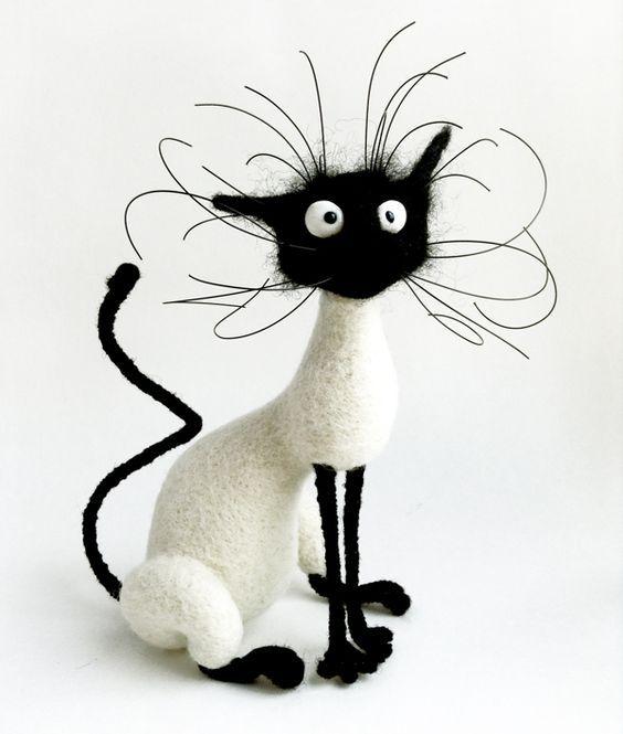 Кошка валяние