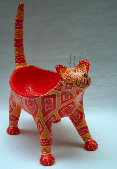 Кот-вазочка