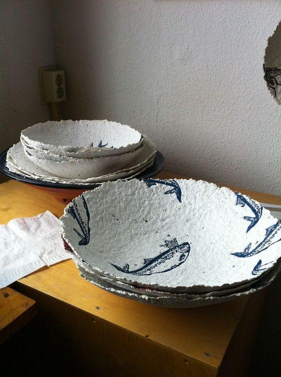 Декупаж на тарелках из папье-маше