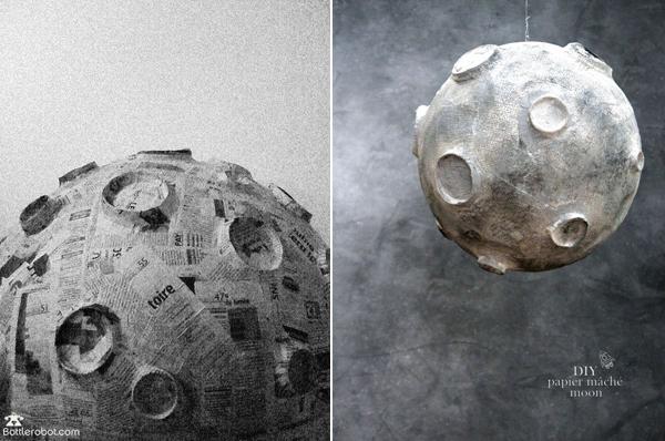 Макет Луны на основе воздушного шара
