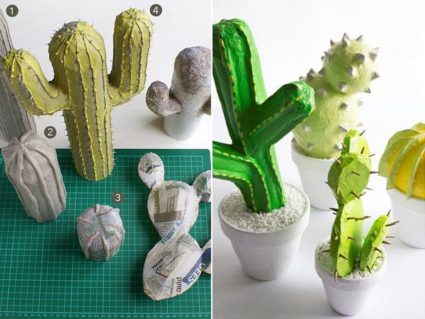 Колючки у кактусов можно сделать из зубочисток