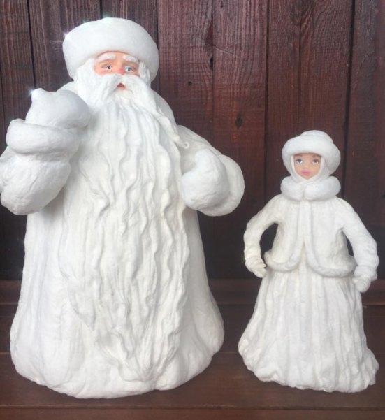 Дед Мороз и Снегурочка — лепка